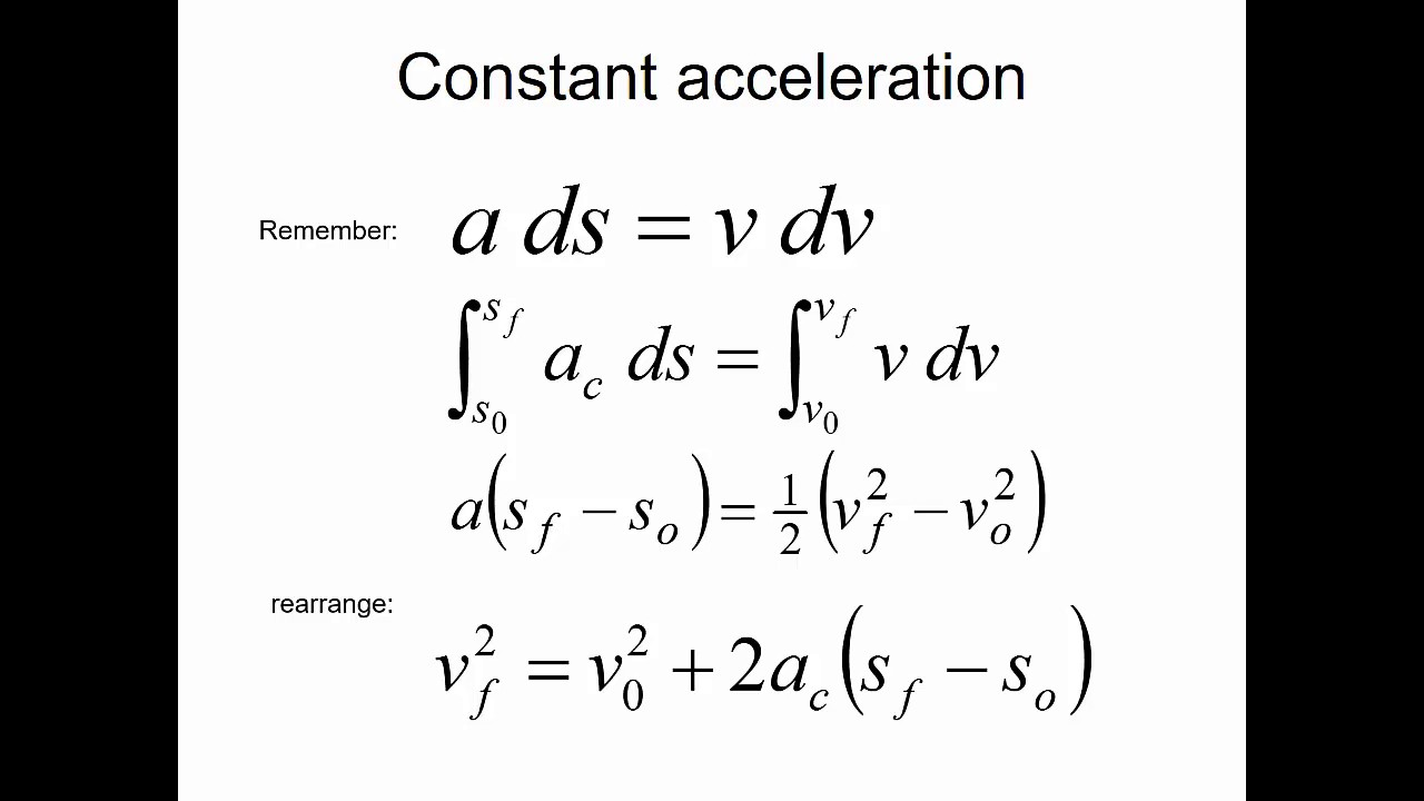 2.2 Kinematic Equation Relationships Continued - YouTube