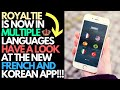 Royaltie Now In Multiple Languages | See New French & Korean Upline App Now Available