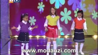Bir Şarkısın Sen 04.08.2012  Cici Kızlar - Delisin ( Mukaddes - Seray - Ceren )  modanzi.com.tr