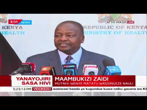 Mutahi Kagwe has appealed to Hotels not to charge more than 50% of the normal charges