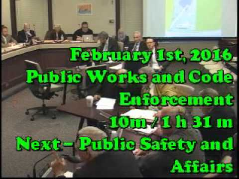 February 1st 2016, Public Works and Code Enforcement