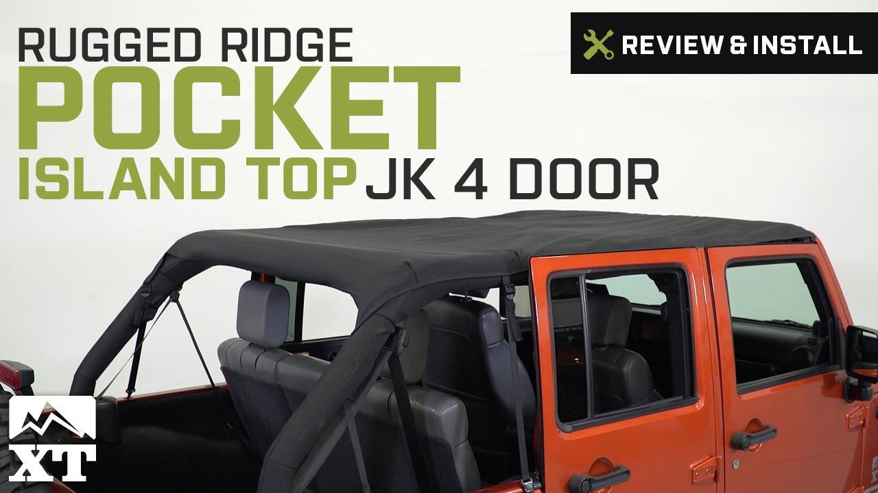 Rugged Ridge 13589.35 Diamond Black Pocket Island Topper
