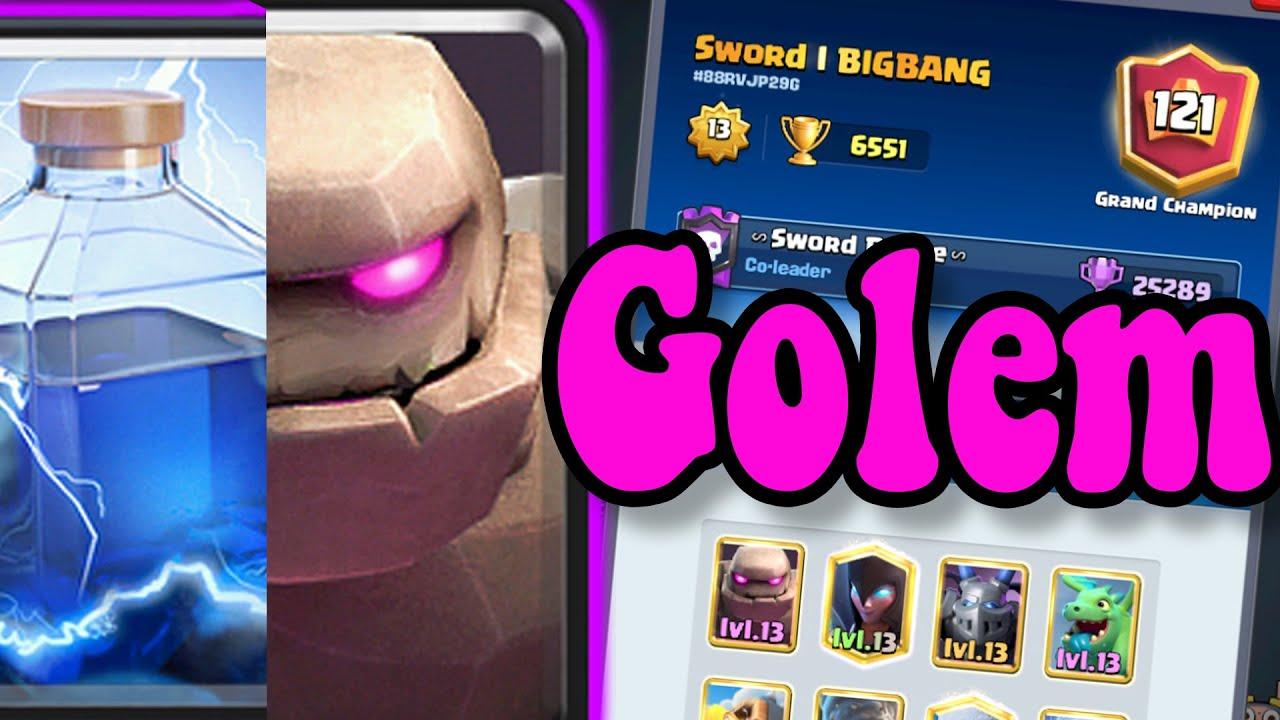 Golem Lightning Deck 🏆 BIGBANG 6600 👈 Best  deck in clash Royale
