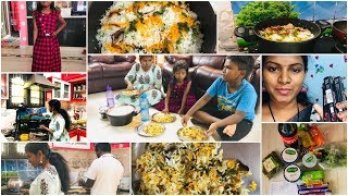 DIML/Kheema Dum Biriyani ఎలా చేసానో చూడండి/Friday & Sunday Vlog/Special Lunch making/Amulya Kitchen