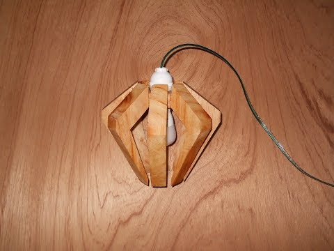 Cara Pembuatan Lampu Hias Gantung Dari Kayu Palet Bekas