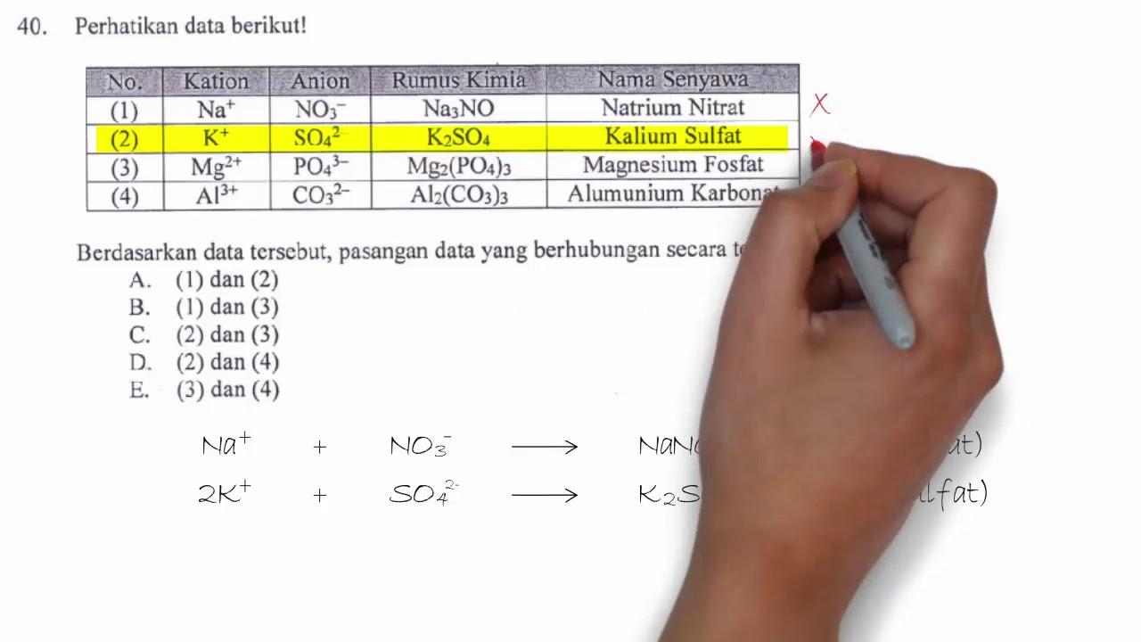 Pembahasan Un Kimia 2018 No 40 Menentukan Pasangan Yang Tepat Rumus Kimia Dan Nama Senyawa Youtube