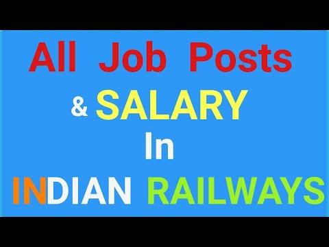 Job posts in Indian Railways & SALARY .