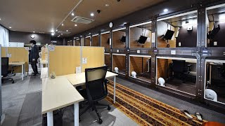 Japanese capsule hotels reinvent themselves as 'capsule offices'