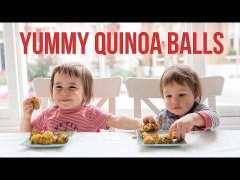 Quinoa & Sweet Potato Balls with Spinach   Gluten-Free