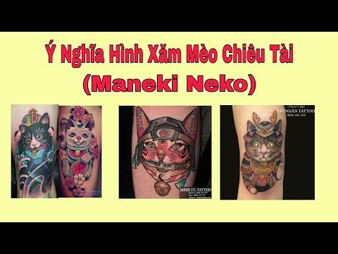 Ý Nghĩa Hình Xăm Mèo Thần Tài - Maneki Neko - Hình Xăm Phong Thủy - HS CHANNEL