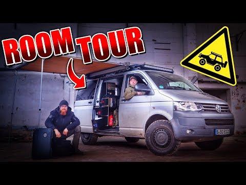 VW T5 BUS ROOMTOUR - 4x4 Camper Ausbau Wohnmobil Vanlife - Bulli | Fritz Meinecke