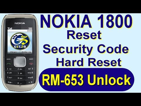 Nokia 1800 Rm-653 Reset Security Code, Nokia 1800 security code, Free Remove With Ufs-3 By Gulzo