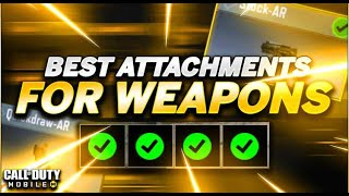 Use these Attachments To Become PRO!! | Weapon Tips & Tricks | Cod Mobile