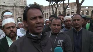 حول العالمفن و منوعات  مسلمو إيطاليا يتظاهرون ضد غلق أماكن عبادتهم