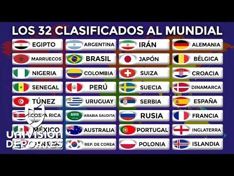 Estos son todos los 32 clasificados a la Copa Mundial Rusia 2018