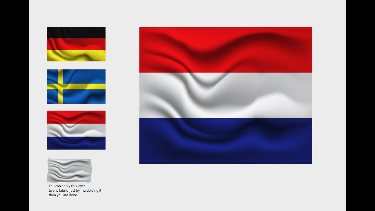 Creating realstic flag fabric waves in Adobe illustrator CC Tutorial
