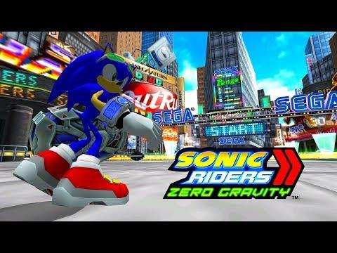 Sonic Riders Zero Gravity - '80s Boulevard - Sonic 4K 60 FPS