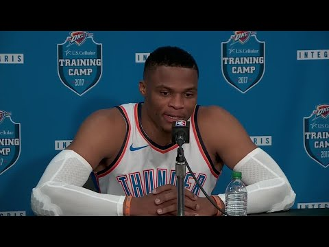 Russell Westbrook talks Carmelo Anthony, Trump comments at OKC Thunder media day