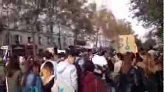 Paris : manifestation de lycéens contre l