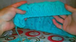 Вязание спицами. #Резинка_Зигзаг# для моей летний кофточки
