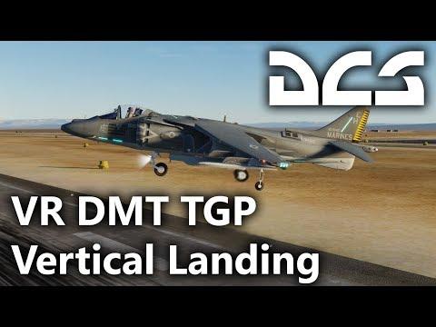 DCS World - AV-8B N/A Harrier II - VR, DMT, TPOD, Vertical Landing