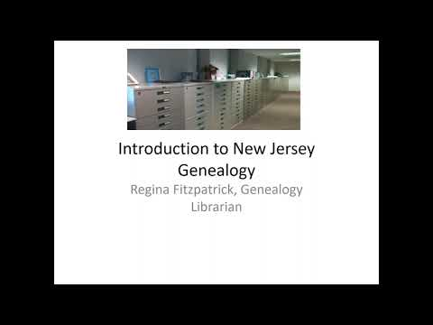 Introduction to New Jersey Genealogy