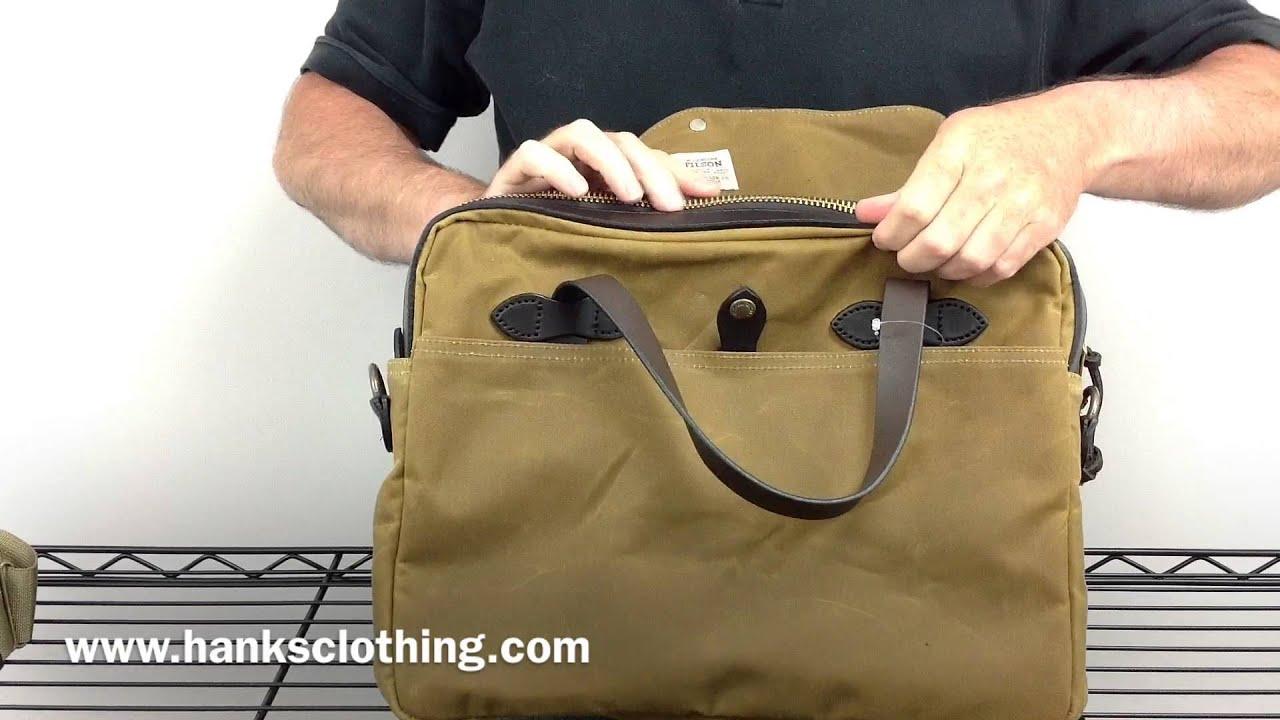 Filson 70016 Original Tin Cloth Briefcase