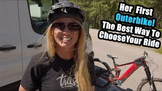Her first Outerbike Demo