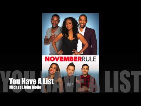 November Rule - You Have A List - Michael John Mollo