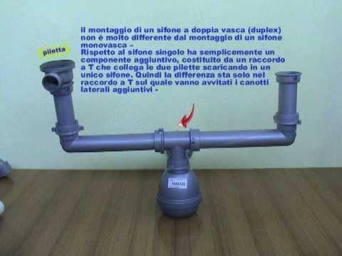 Differenza tra sifone lavello a doppia vasca e sifone singolo youtube - Perdita sifone lavabo cucina ...