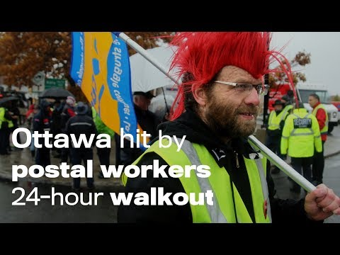 Ottawa hit by postal workers 24-hour walkout