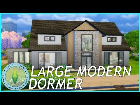 The Sims 4 House Build | Large Modern Dormer