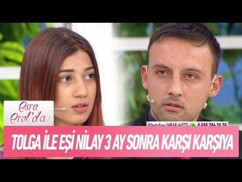 Tolga ile eşi Nilay 3 ay sonra karşı karşıya - Esra Erol'da 2 Ocak 2019