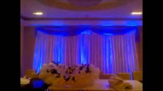 Music Max Group - Подсветка стен и задника за молодыми на свадьбе.