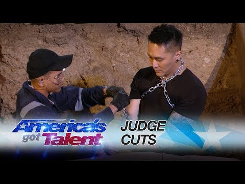 Demian Aditya: Escape Artist Attempts Deadly Performance  America's Got Talent 2017