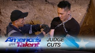 Download Video Demian Aditya: Escape Artist Attempts Deadly Performance - America's Got Talent 2017 MP3 3GP MP4