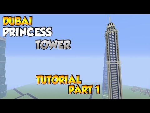 Minecraft Dubai Princess Tower Tutorial Part 1