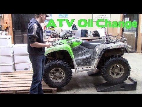 Full Size Arctic Cat ATV Oil Change || DIY & SAVE MONEY!