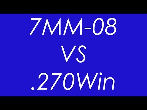 .270Win VS 7MM-08 Rem - Ballistics Compared