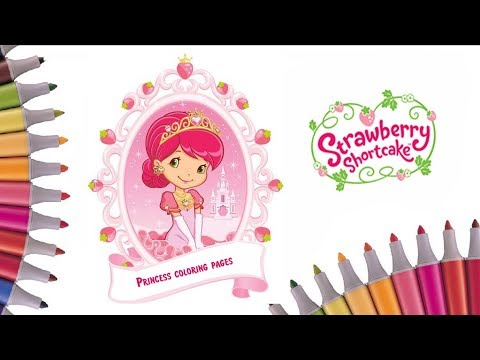 strawberry shortcake coloring book video how to colour princess raspberry torte coloring page