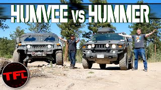 Old vs Older - Can a Civilian Hummer H2 Keep Up with a Military HUMVEE Off-Road?