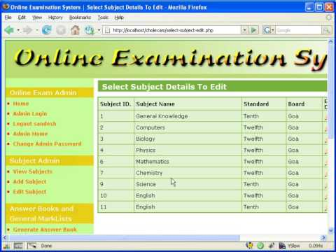 sample online examination system Sample srs online examination system - download as word doc (doc), pdf file (pdf), text file (txt) or read online.
