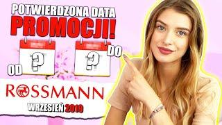 OFICJALNA DATA PROMOCJI W ROSSMANN ❤️  wrzesień 2019