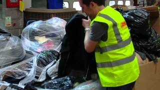 BT volunteers help sort Kit at DHL Lutterworth
