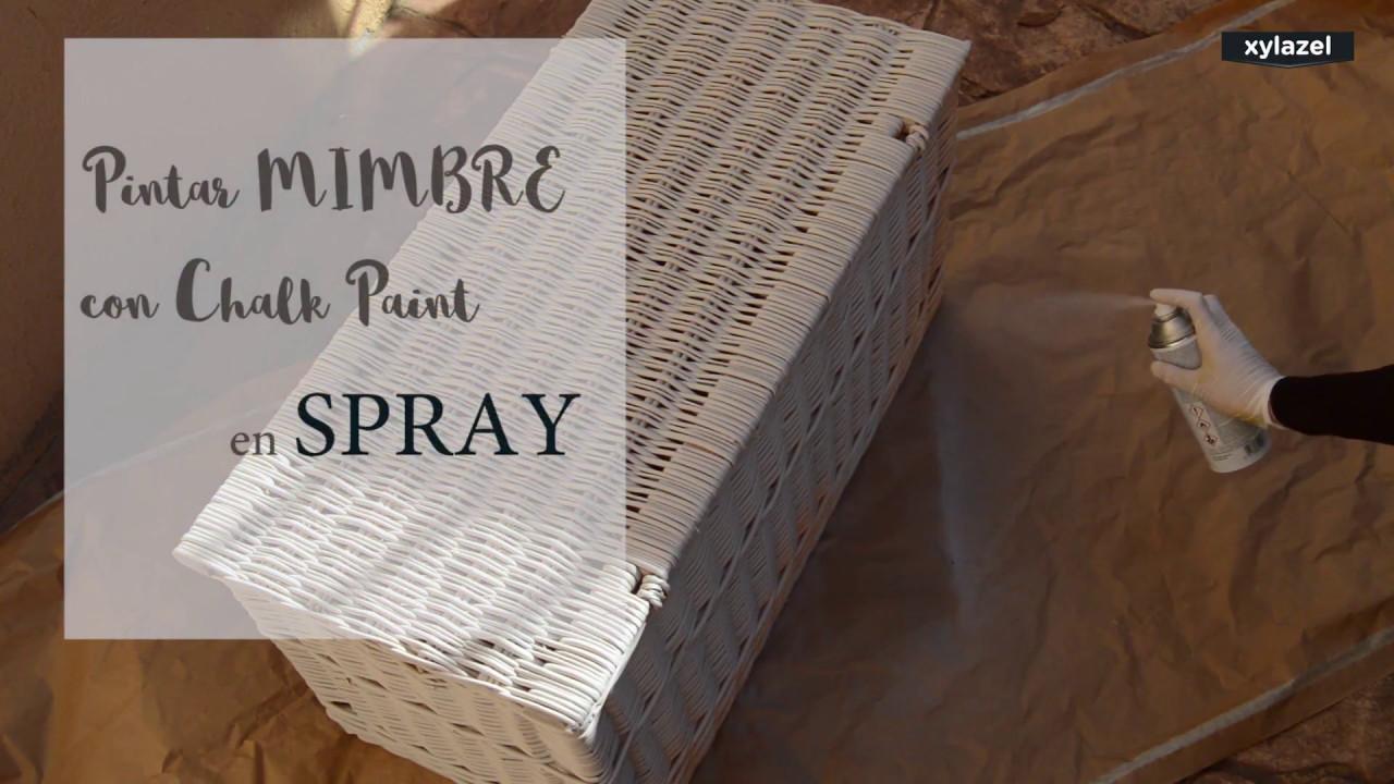 Como Renovar Facilmente Un Mueble De Mimbre Con Chalky En Spray