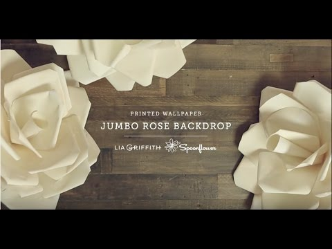 How to Make a Paper Flower Backdrop | Spoonflower