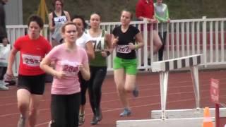 Лёгкая атлетика ВУЗы лето 2010 3 забег 1500м жен