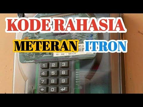 Kode Rahasia Meteran Listrik Prabayar Merek Itron Youtube