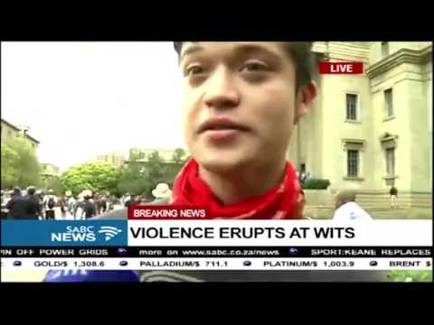 SOUTH AFRICAN WITS UNIVERSITY PROTEST OCTOBER 2016 ALL CLIPS