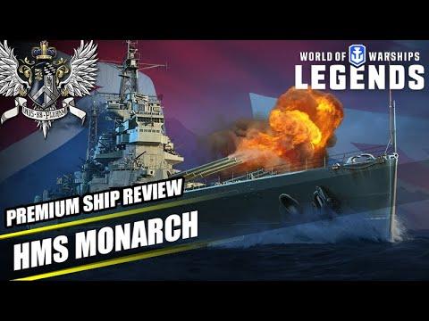 WoWS: Legends - HMS Monarch - Premium Ship Review - YouTube